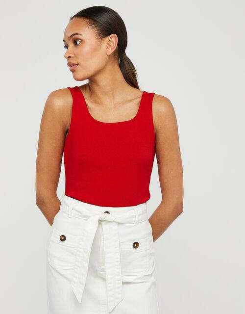 Bridey Square Neck Vest, Red (RED), large