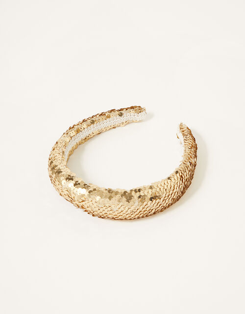 Sequin Padded Headband , , large