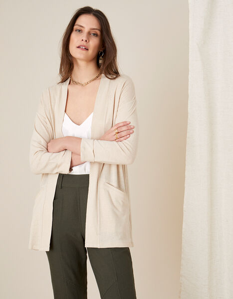 Plain Cover Up in Linen Blend  Natural, Natural (STONE), large