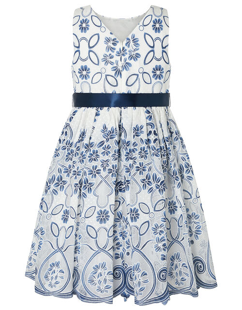 Maggie Lace Occasion Dress, Blue (NAVY), large