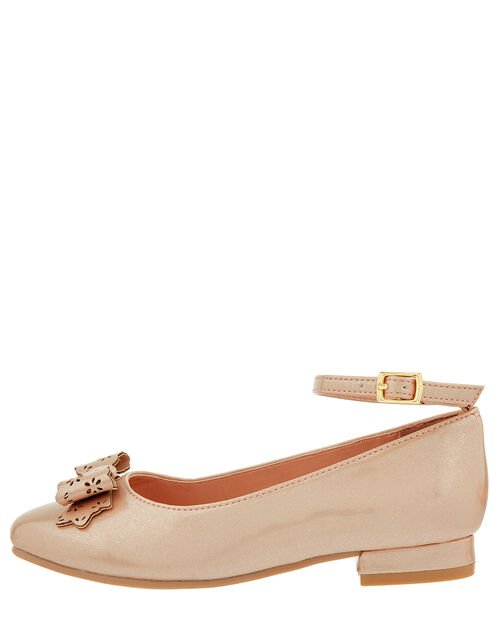Bailea Shimmer Ballerina Shoes, Natural (CHAMPAGNE), large