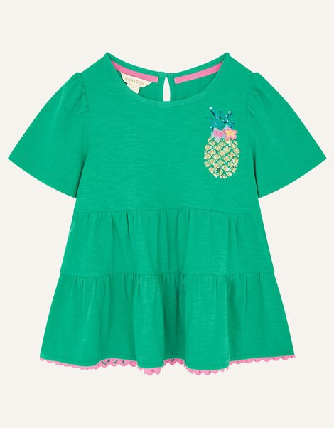 Sequin Pineapple Tiered Top Green, Green (GREEN), large