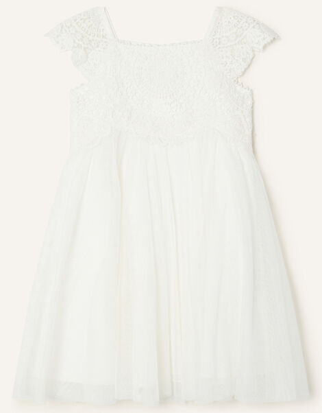 Baby Estella Dress Ivory, Ivory (IVORY), large