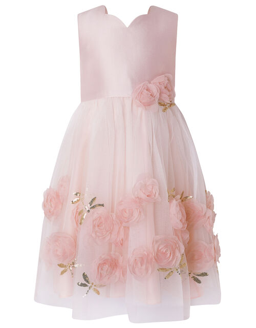 Rashima Sequin Dragonfly Rose Dress, Pink (PINK), large