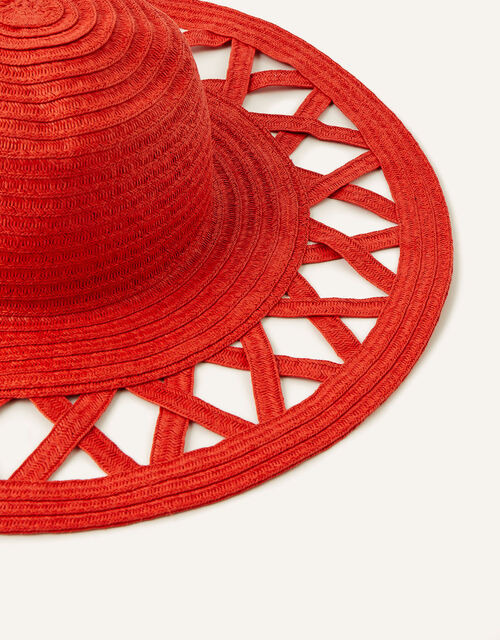 Charli Colour-Pop Straw Floppy Hat , , large