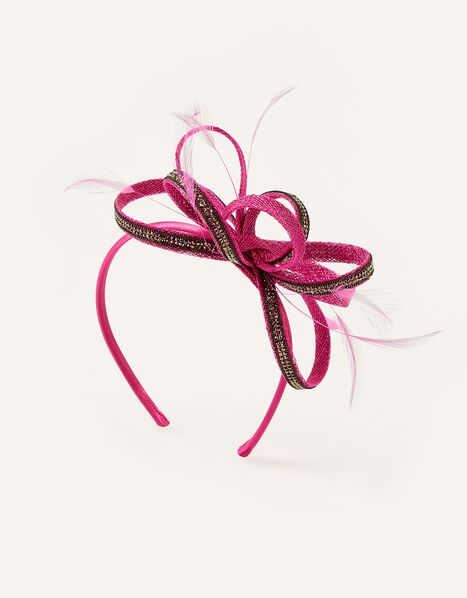Embellished Loops Fascinator Headband Pink, Pink (FUCHSIA), large