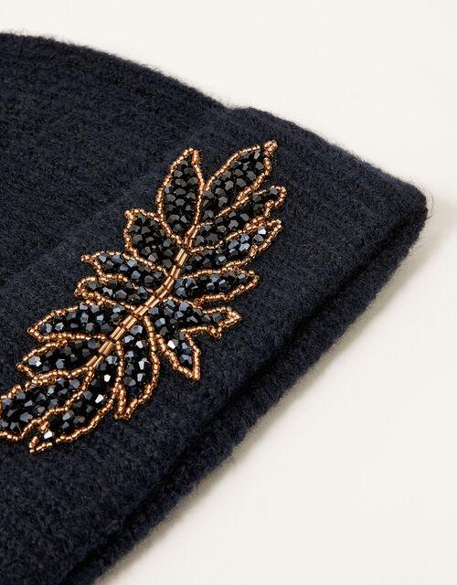 Embellished Knit Hat, , large