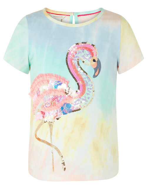Freida Sequin Flamingo Tie-Dye T-shirt, Multi (MULTI), large