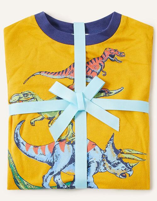 Dinosaur Pyjama Set, Blue (NAVY), large