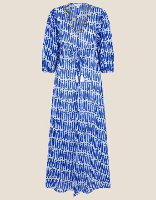 Benita Printed Maxi Dress, Blue (BLUE), large