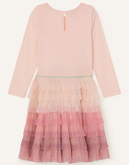 Sequin Star Disco Dress, Pink (PINK), large