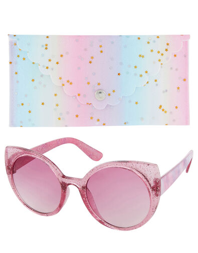 Cat Eye Tie-Dye Sunglasses with Case, , large