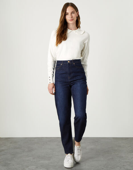 Barrel Jeans with Recycled Cotton Blue, Blue (INDIGO), large