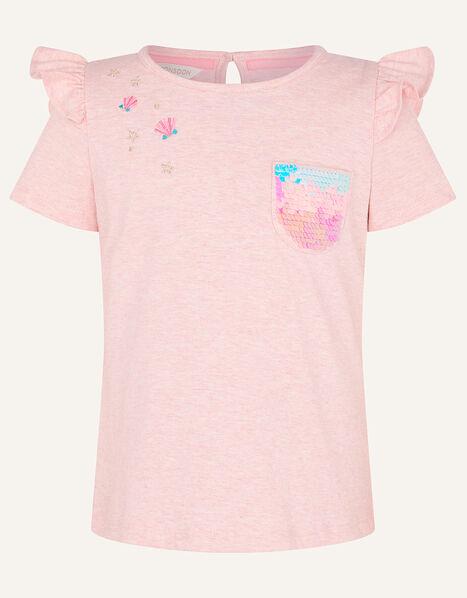 Sequin Pocket T-Shirt Pink, Pink (PINK), large