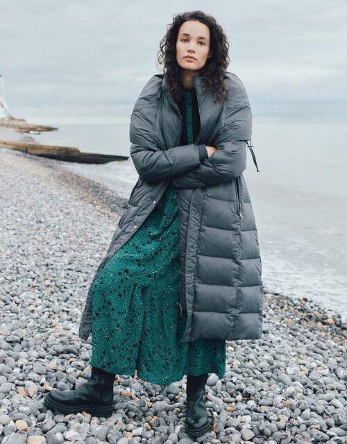 Lauren Padded Maxi Coat, Grey (CHARCOAL), large