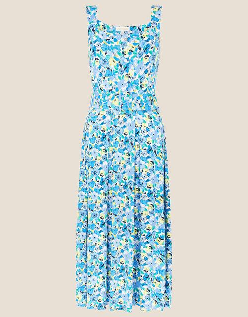 Floral Print Jersey Sundress, Blue (BLUE), large