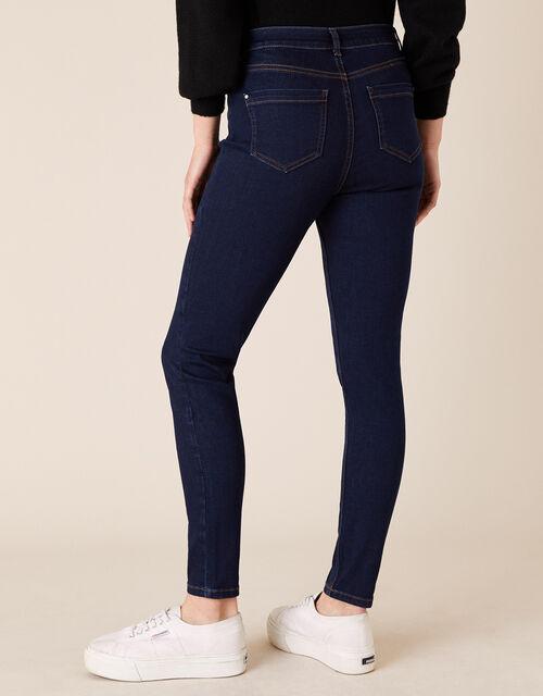 Iris Short-Length Skinny Jeans, Blue (BLUE/BLACK), large