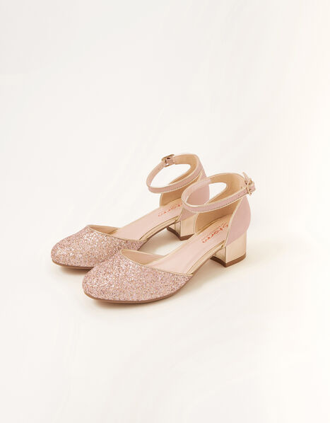 Glitter Two-Part Heels  Pink, Pink (PINK), large
