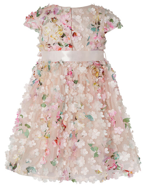 Baby Florence 3D Flower Dress, Pink (PINK), large