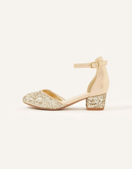 Mix Glitter Two-Part Heels , Gold (GOLD), large