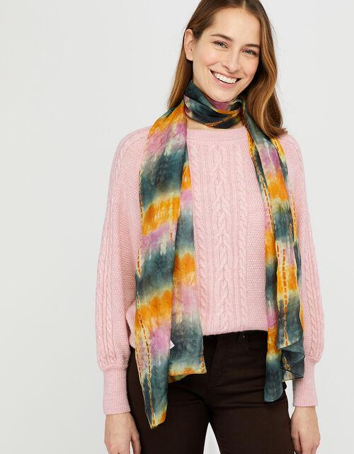 Terrah Die Dye Rectangle Silk Scarf, , large