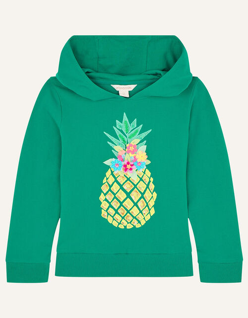 Sequin Pineapple Hoody, Green (GREEN), large