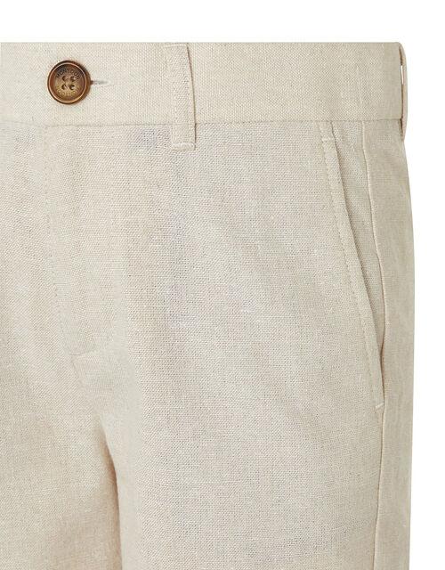 Sebastian Smart Shorts in Linen Blend, Natural (STONE), large