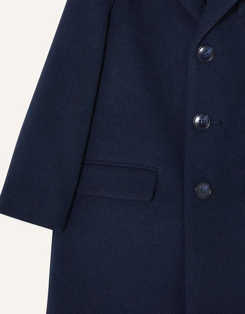 Cord Collar Overcoat, Blue (NAVY), large