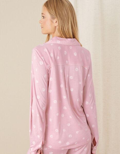 Spot Print Pyjama Shirt  Pink, Pink (PINK), large