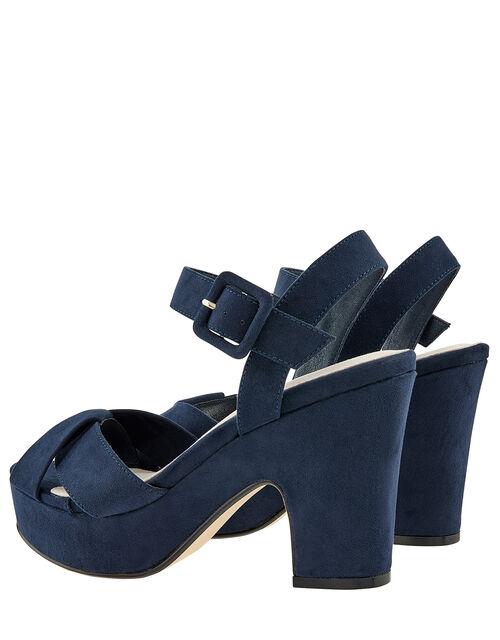 Polly Platform Heeled Sandals, Blue (NAVY), large