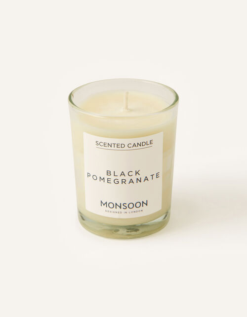 Small Black Pomegranate Scented Candle, , large