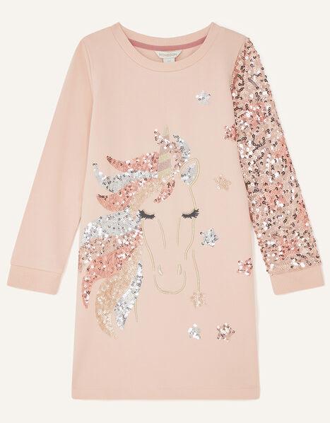Sparkle Unicorn Sweat Tunic  Pink, Pink (PINK), large