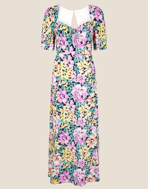 Fearne Floral Midi Dress, Ivory (IVORY), large