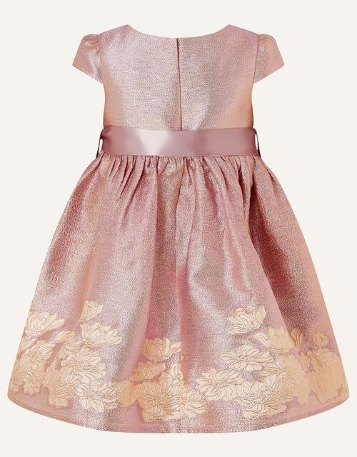 Baby Bordered Jacquard Dress , Pink (PINK), large