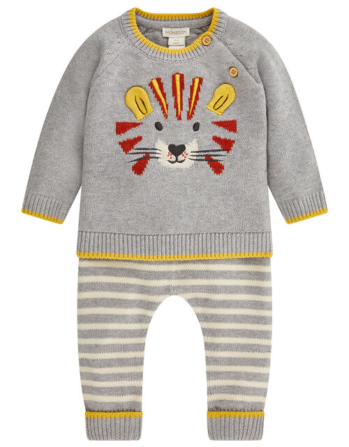 Newborn Lionel Knit Set, Grey (GREY), large