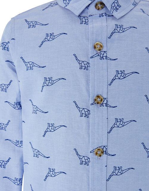 Dinosaur Long Sleeve Shirt, Blue (BLUE), large