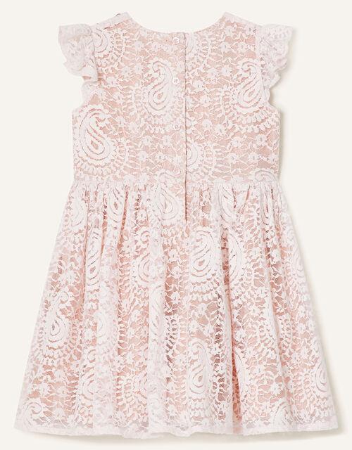 Baby Lace Ruffle Dress, Pink (PINK), large