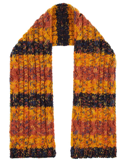 Glen Chunky Cable Knit Scarf, , large
