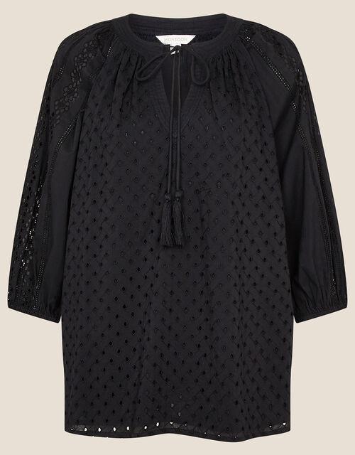 Broderie Top, Black (BLACK), large
