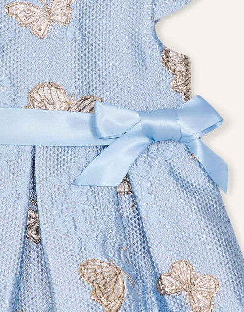 Baby Butterfly Jacquard Dress, Blue (BLUE), large