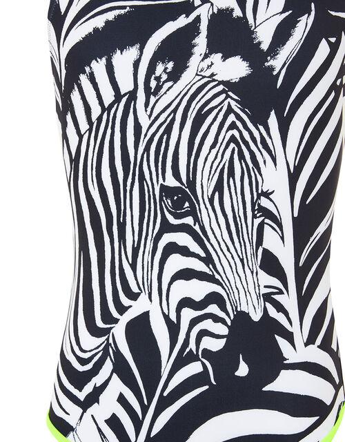 Zebra Print Swimsuit, Black (BLACK), large