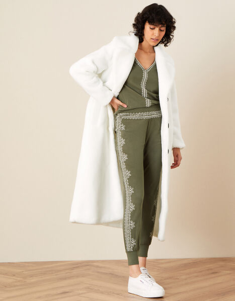 LOUNGE Embroidered Joggers Green, Green (KHAKI), large