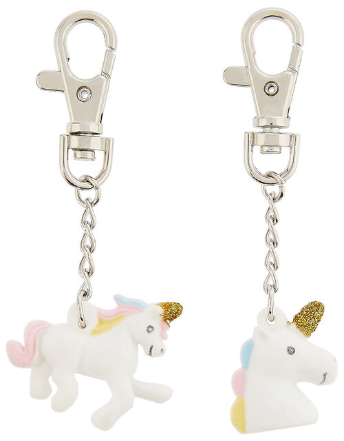 Unicorn Tear-and-Share Key Charms, , large