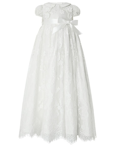 Baby Provenza Silk Christening Gown Ivory, Ivory (IVORY), large