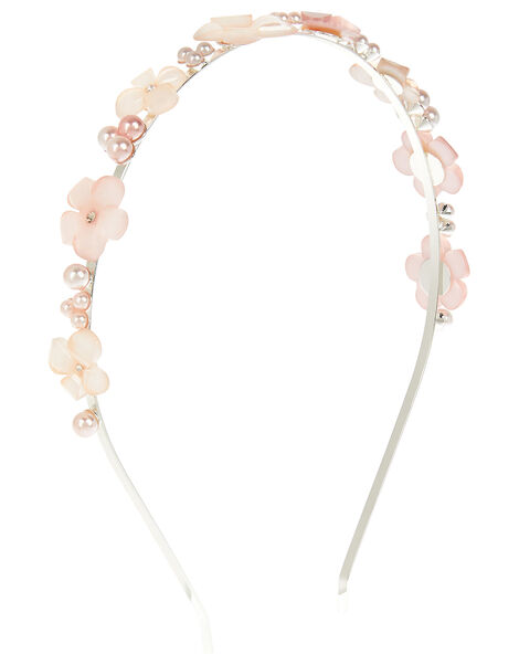 Mixed Facet Flower Hairband , , large