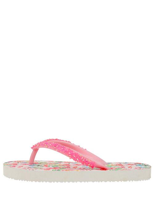 Floella Flamingo Flip Flops, Pink (PINK), large