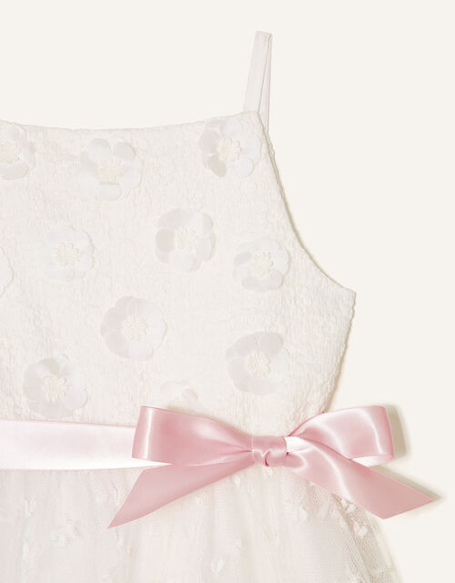 3D Flower Lace Maxi Dress, Ivory (IVORY), large