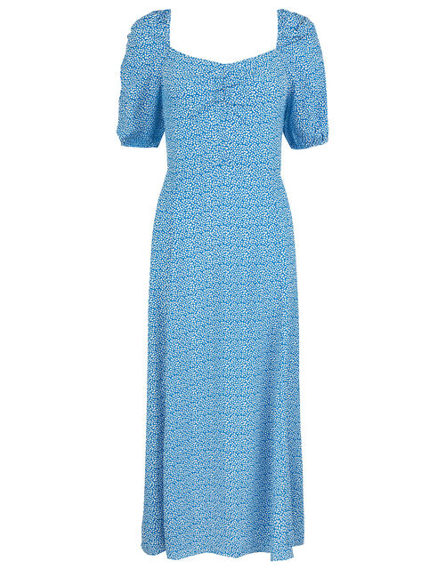 Freddy Ditsy Floral Midi Dress in Sustainable Viscose, Blue (BLUE), large