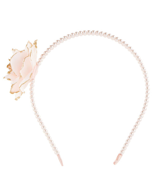 Arianna Pearl Double Strand Hairband , , large