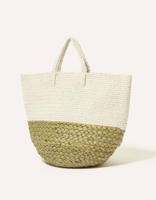 Border Jute Basket, , large